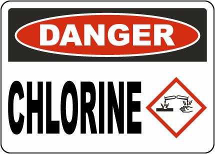 Alaska Danger Chlorine Sign
