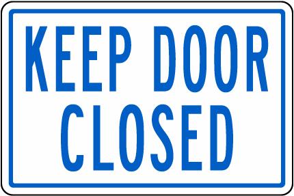 California Keep Door Closed Pool Sign