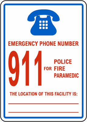 Connecticut Emergency Phone Sign