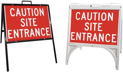 Caution Site Entrance Sandwich Board Sign