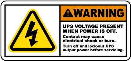 UPS Voltage Present When Off Label