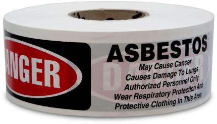 Danger Asbestos Barricade Tape