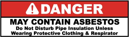 Danger May Contain Asbestos Label