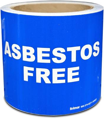 Asbestos Free Label