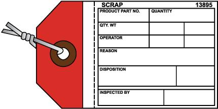 Scrap Inventory Tag