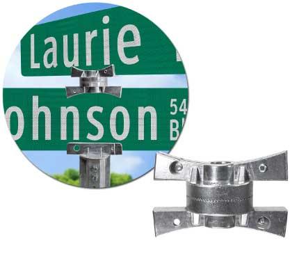 5½″ Adjustable Cross Separator Street Name Sign Bracket