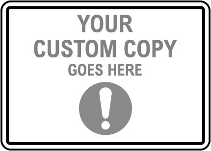 Blank Custom Signs