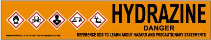 Hydrazine Pipe Label