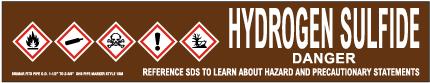 Hydrogen Sulfide Pipe Label