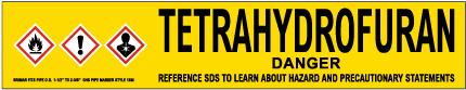 Tetrahydrofuran Pipe Label