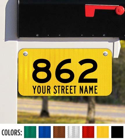 Horizontal 911 Address Sign with Street Name