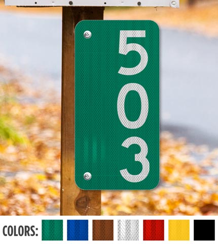 Vertical 911 Address Sign — Numbers Only