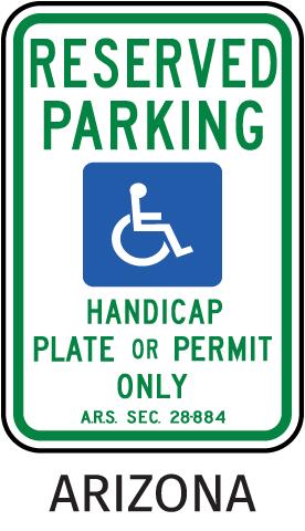 Arizona Accessible Parking Sign