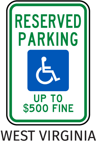 West Virginia Accessible Sign