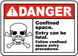 Confined Space Entry Can Be Fatal Sign