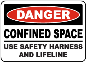 Use Safety Harness and Lifeline Sign