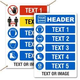 Custom PPE Signs and Banners — 5 Images