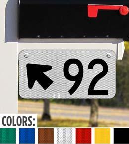 Horizontal 911 Address Sign with Arrow