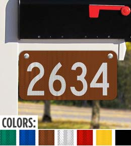 Horizontal 911 Address Sign — Numbers Only