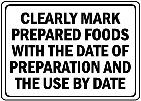 Clearly Mark Prepared Foods Sign