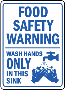 Wash Hands Only In This Sink Label
