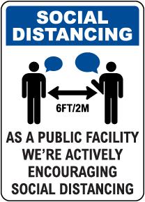 Social Distancing Facility Sign