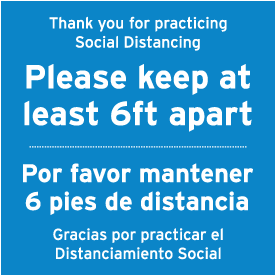 Bilingual Thank You For Practicing Social Distancing Floor Sign