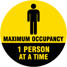 One Person Maximum Occupancy Floor Sign