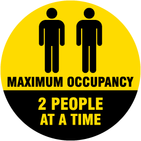 Two People Maximum Occupancy Floor Sign
