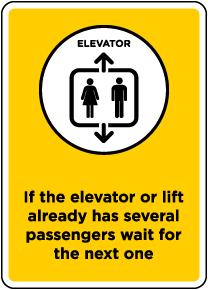 Elevator/Lift Occupancy Sign