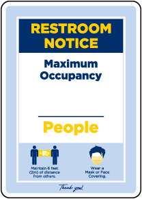 Restroom Notice Maximum Occupancy Sign
