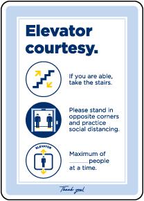 Elevator Courtesy Sign