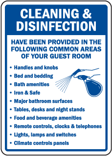 Cleaning & Disinfection Guest Room Sign