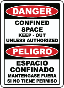 Bilingual Danger Keep Out Unless Authorized Sign