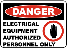 Danger Electrical Equipment Label