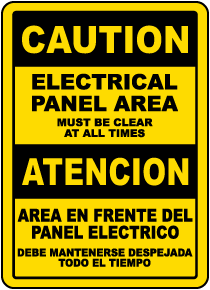 Bilingual Electrical Panel Area Must Be Clear Label