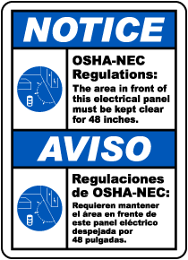Bilingual Notice Panel Must Be Clear For 48 Inches Label