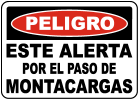 Spanish Danger Look Out For Forklifts Sign