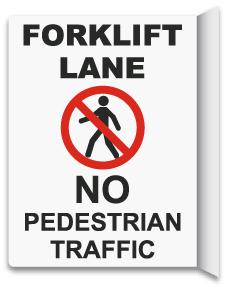 2-Way No Pedestrian Traffic Sign