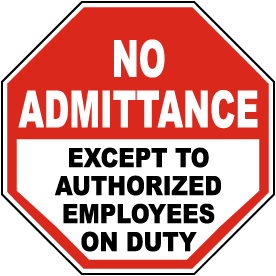 Except To Authorized Employees Sign