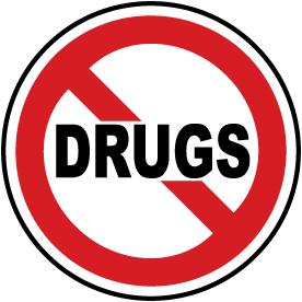 Drugs Prohibited Label
