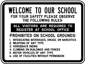Welcome To Our School Sign
