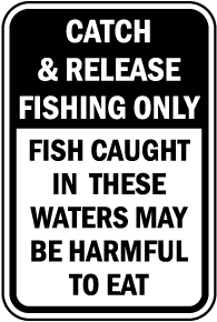 Fish May Be Harmful To Eat Sign