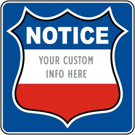 Custom Govt. Private Property Sign