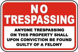 Found Guilty of A Felony Sign