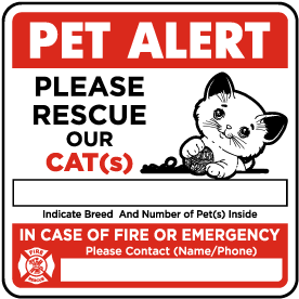 Please Rescue Our Cat with Contact Information Sticker