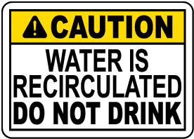 California Spray Ground Water Sign