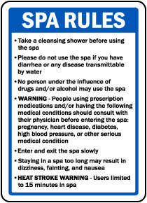 Montana Spa Rules Sign