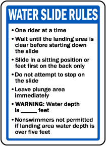 Montana Water Slide Rules Sign