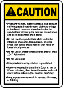 Ohio Spa Caution Sign